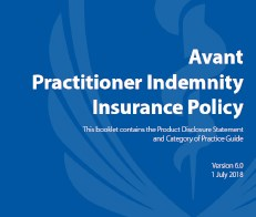 Practitioner indemnity insurance policy